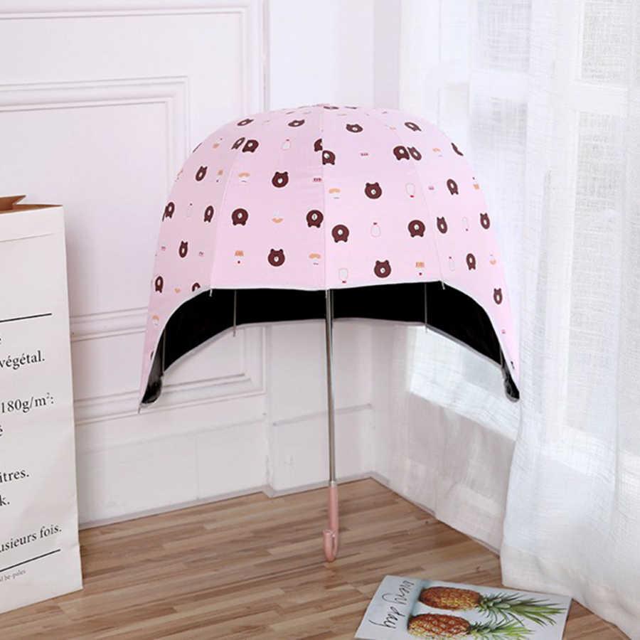 Шлем длинная ручка с зонтиком анти УФ аниме прозрачный зонтик дождь женщин зонтик сад Kinder Paraplu зонты от солнца Umberlla 50KO068