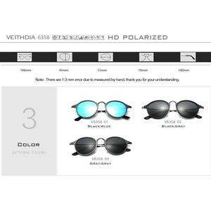 Image 5 - SUNGLASSES VEITHDIA Vintage Retro Brand Designer Sunglasses Men/Women Male Sun Glasses gafas oculos de sol masculino 6358