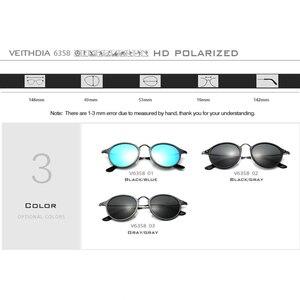 Image 5 - Óculos de sol veithdia vintage retro marca designer óculos de sol masculino gafas óculos de sol masculino 6358