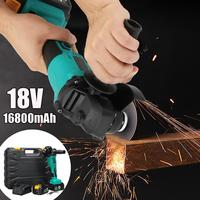 1300W 18V Brushless Angle Grinder with Adapter 100mm Angle Grinding Cutting Machine Kit Box
