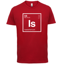 ISABELLE Periodic Element - Mens T-Shirt Geeky / Chemistry 13 Colours Name Print T Shirt Short Sleeve Hot Tops