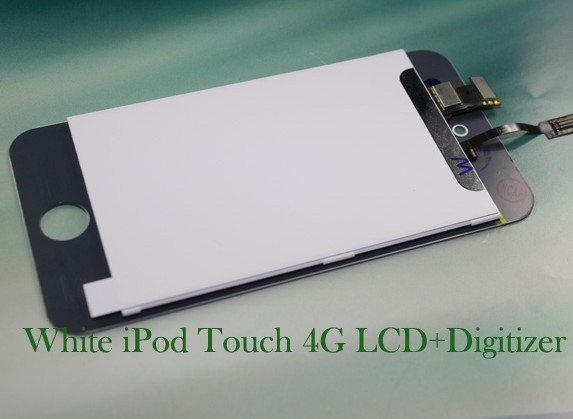Excellent Black  & White Digitizer and lcd assembly  for iPod touch 4G free shipping