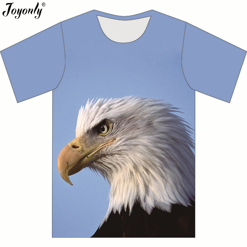Joyonly 2018 Summer Children New 3D <font><b>Animal</b></font> Eagle Blue Sky Print Short Sleeve T-shirt For Boy Girl <font><b>Tshirt</b></font> Clothes Kid Tee Tops image