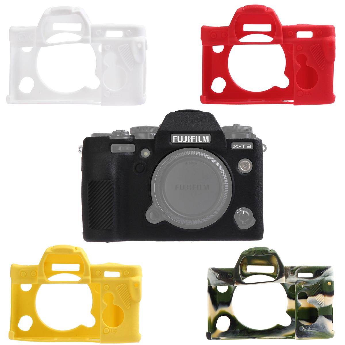 Borracha de Silicone Protetor para Câmera Textura Melhor Suave Case Capa Quadro Pele Fuji Fujifilm X-t3 Xt3