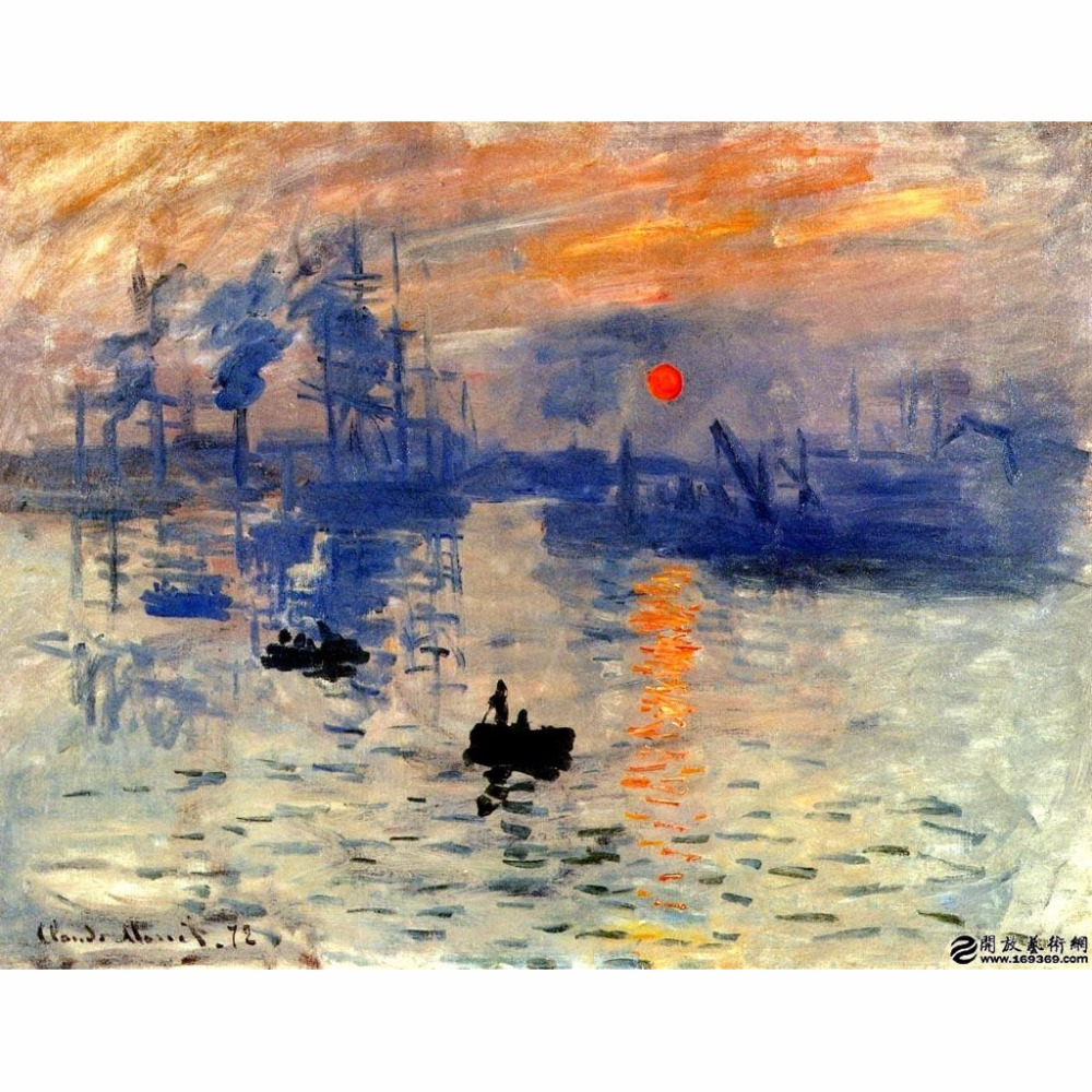 Sunrise Van Go Paint By Number Kit The Sea By Claude Monet Crafts Paint By Numbers Kits