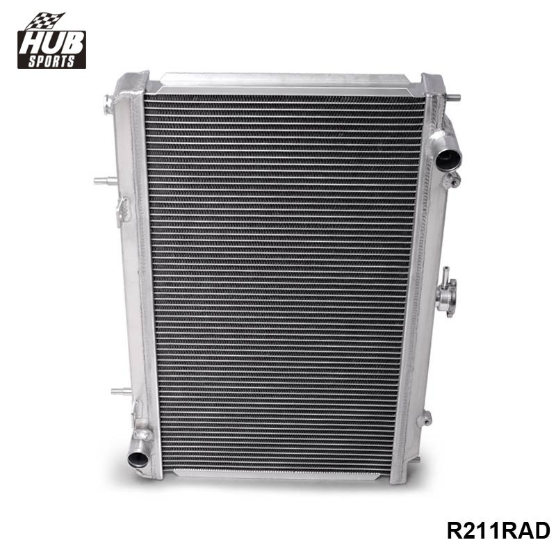 Pour 95-98 Nissan 240SX Silvia S14 Sr20/Sr20Det MT 2 rangées plein aluminium radiateur HU-R211RAD