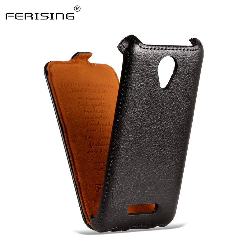(Sale) Micromax Q380 Case Flip Leather Cover For Micromax Canvas Spark Q380 Lichee Phone Cases Mobile Phone Bag Ferising P001