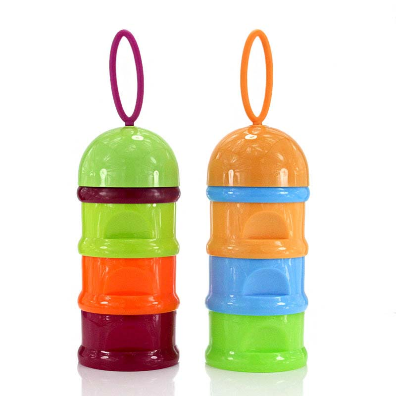 Useful Milk Container Feeding Newborn Baby Infant Kids Artificial Milk Powder Three Grid Snacks Candy Supp