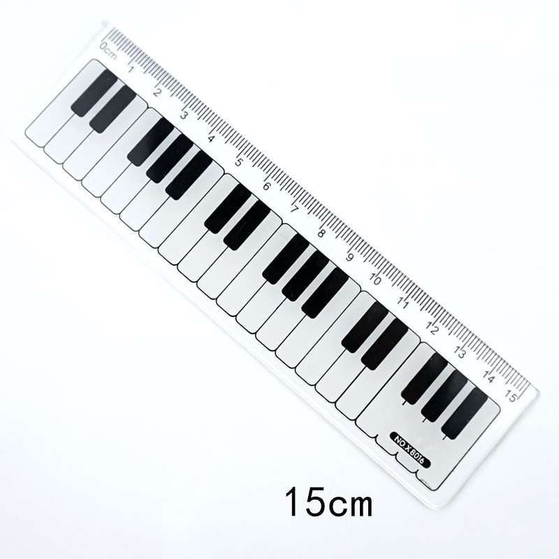 1 Pcs Music Black And White Piano Keys Ruler 15cm Straight Ruler Students Gifts