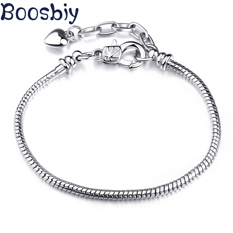 Boosbiy High Quality Vintage 6 Styles Charm Pandora Bracelet For Women European Style Charm Bracelets Diy Making Jewelry Gift Unequal In Performance