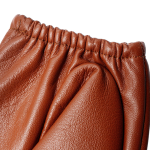 Image 4 - Nova moda luvas de couro, couro genuíno, marrom, feminino luvas de couro curto parágrafo, outono moda luvas curtas, senhoras luvas