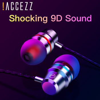 цена на !ACCEZZ Wired Headset In-Ear Bass Subwoofer Stereo Earphone For Xiaomi Huawei Samsung For iPhone 4 5 6s Plus With Microphone