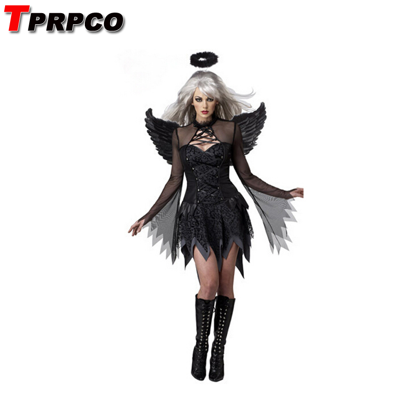 TPRPCO Fantasia  Adult Fallen Angel Costume halloween costumes for women sexy costume fantasy cosplay party fancy dress NL154
