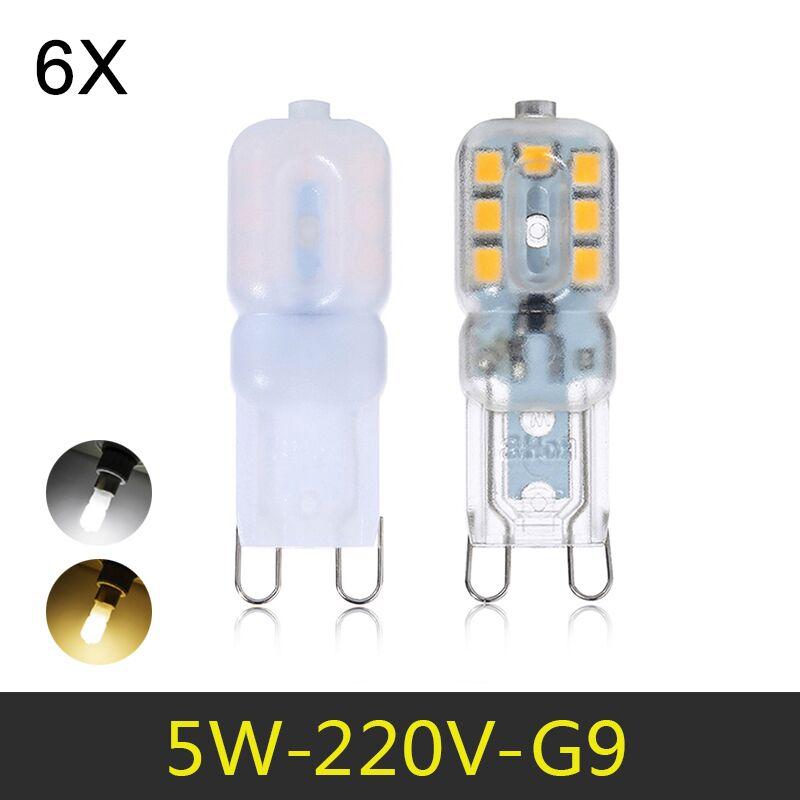Mini LED G9 Lamp 5W SMD2835 G9 LED Bulb Chandelier LED Light 220V 240V High Quality Lighting Replace Halogen Lamps 6pcs/lot eco cat g9 led lamp ac 220v led bulb crysta 5w 7w 9w smd 2835 3014 led light for chandelier spotlight replace halogen lamp
