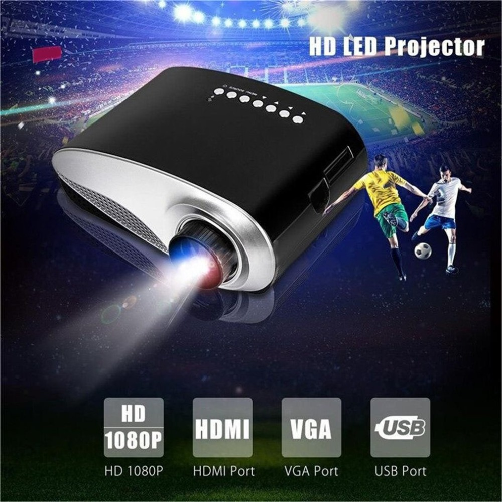 RD802 Portable Mini Projector Home Theater Cinema LED LCD Beamer 1080P USB/VGA/HDMI Child Cartoon Video Cinema Movie proyector