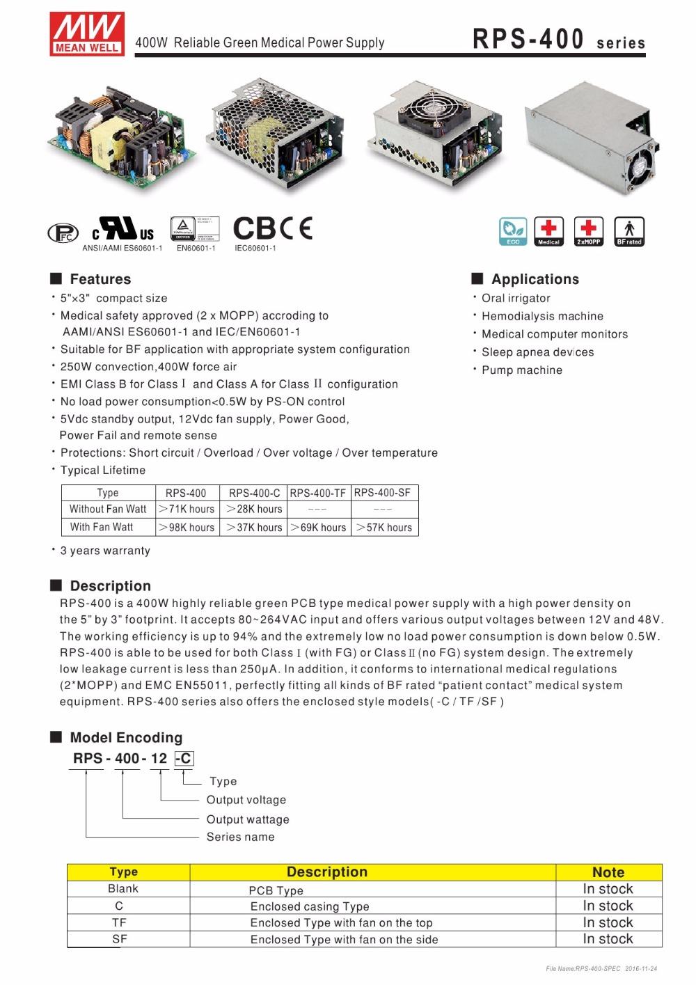 RPS-400-SPEC-1
