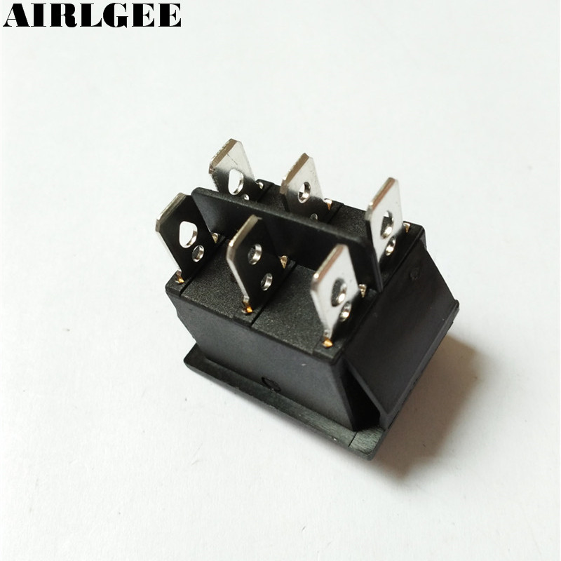 250 V/15A 125 V/20A AC Automatische reset Momentary ON/OFF DPDT ...