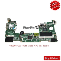 NOKOTION Laptop Motherboard For HP mini 110 Main Board 630966 001 N455 CPU DDR3 Full Tested