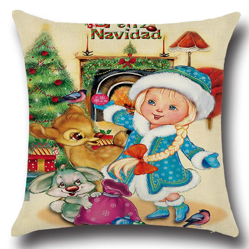Christmas cushion decorative pillows santa claus throw for Decoraciones de navidad para el hogar