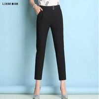 High Waist Strtch OL Pants Women Skinny Slim Trousers Ladies Summer Thin Pants Work Wear Plus