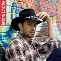 Winter 100 Wool Felt Fedora Hat For Men Lining Wool Felt Jazz Hat Wide Large Brim