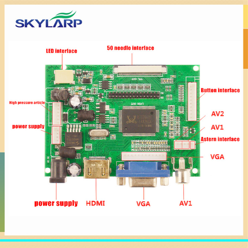 Skylarpu LCD Display TTL LVDS Controller Board HDMI VGA 2AV 50 PIN For AT070TN90 Support Automatically VS-TY2662-V1 Driver Board