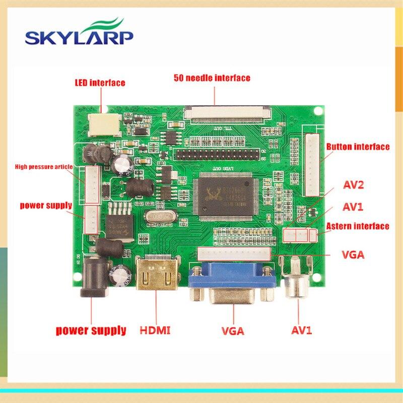 Skylarpu LCD affichage TTL LVDS carte contrôleur HDMI VGA 2AV 50 broches pour AT070TN90 Support VS-TY2662-V1 automatiquement carte de pilote