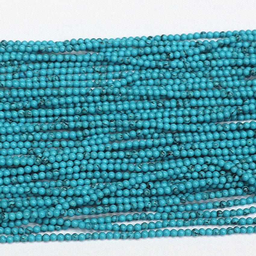 Free shipping 2mm 3mm blue black veins turquoise stone jasper round spacers beads diy jewelry hot sale loose beads 15inch B451