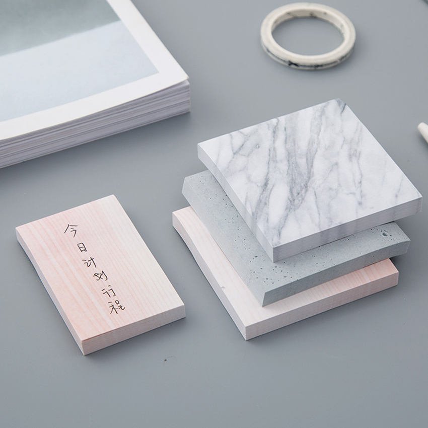 Creative Marble Color Self Adhesive Memo Pad Stone Style Sticky Notes Post It Bookmark School Office Stationey Trumpet bookCreative Marble Color Self Adhesive Memo Pad Stone Style Sticky Notes Post It Bookmark School Office Stationey Trumpet book