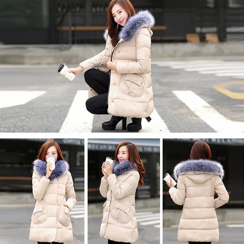 1PC Winter Jacket Women Hooded Cotton Padded Coat Parkas For Female Warm Wadded Ladies Abrigos Mujer Jaqueta Feminina 2016