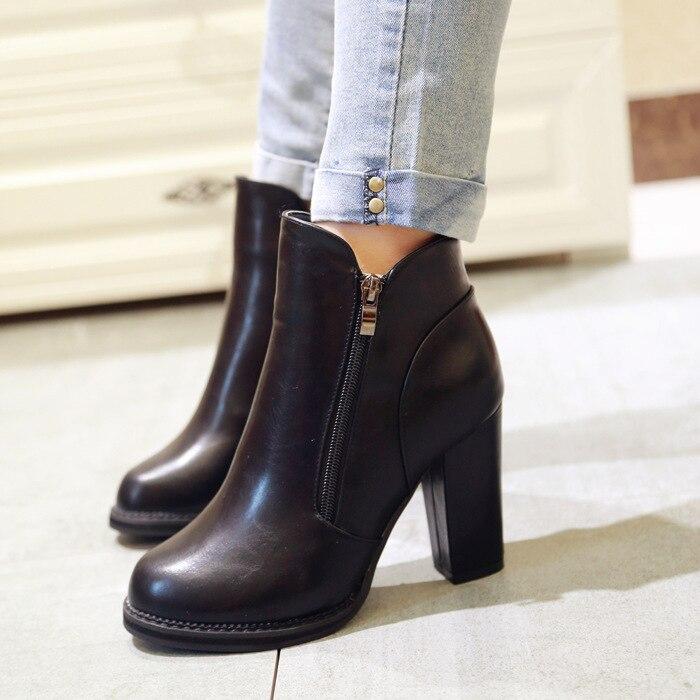 automne hivers Martin bottes chaussures à talons hauts pour les femmes z2Cv5SI4