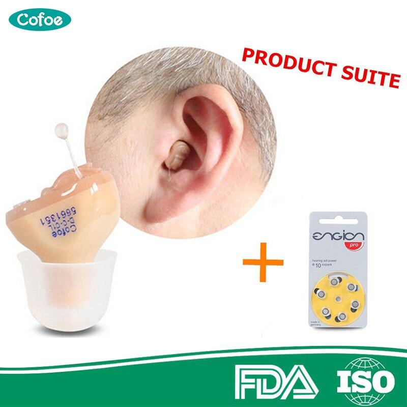 Cofoe Invisible Hearing Aid Aids Enhancer Portable inner Ear Best Sound Amplifier Hearing Assistance Device FREE A10 Battery bandas para cerrar heridas