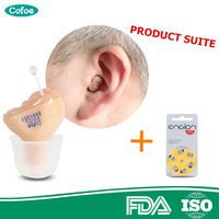 Cofoe Invisible Hearing Aid Aids Enhancer Portable inner Ear Best Sound Amplifier Hearing Assistance Device FREE A10 Battery