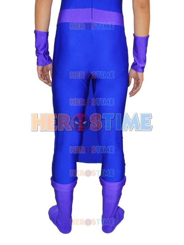 Avengers Hawkeye Costume Spandex Purple & Blue Avengers Hawkeye - Կարնավալային հագուստները - Լուսանկար 6