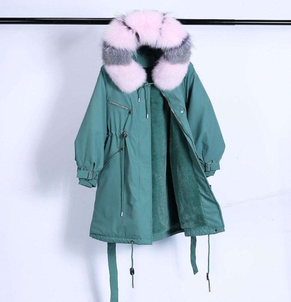 Large Natural Raccoon Fur Winter Jacket Women Hooded 19 Long Parkas For Female Thick Slim Down Winter Coat Women Waterproof 27