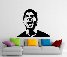 Wall Decal Luis Suarez Football Player Star Bedroom Living Room Art Sticker Removable Fashion Interior Decor WW-36