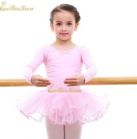 Ballet Gymnastics Leotard Long Sleeve Swan Lake Tutu Ballet Dress Ballerina Leotard For Girl Ballet tutu Dance Dress For Child