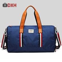 Дорожная сумка большой емкости мужская ручная сумка женская холщовая большая сумка на плечо многофункциональные водонепроницаемые сумки DXH