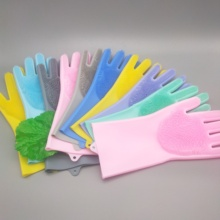 New creative home cleaning gloves magic brush with multi-color optional spot supply 1 pair<br>
