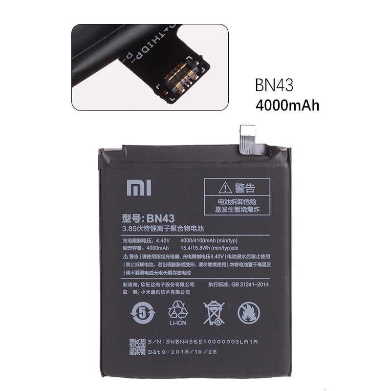 BN41 4100mAh для XIAOMI Redmi Note 4 Аккумулятор Оригинал Redmi Note 4X Pro Аккумулятор MTK Mediatek X20 BN41