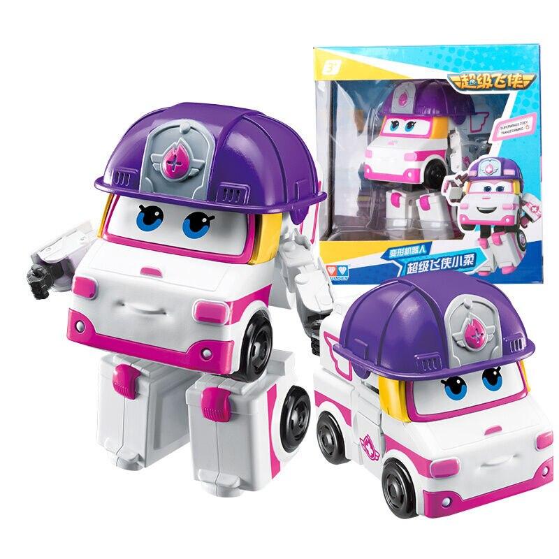 2018 Date Grand Super Ailes Déformation Avion Robot Figurines Super Aile Neo/Astro/Scoop/Kim/ zoey Transformation jouets