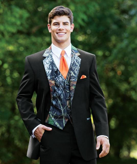 Man camouflage Tuxedos suits two Buttons Camo Wedding clothes Groom ...