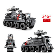 246pcs New Building Blocks Bricks Toys Compatible With Legoingly Technic City Engineering Series Earth Transport Vehicle Figures 7 in 1 diy assembly engineering vehicle model building blocks compatible legoings column engineering car series bricks boys toys