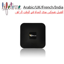 Envío Eternamente HDWorld A-TV Box Android Smart TV Caja IPTV Árabe IPTV indio 1000 + Canales de Por Vida Libre de PK Gran Abeja TV Player