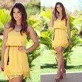 Vestido ренда-линии тропический зимой Большой размер платья женщин одежда 2016 ремень Roupas милый свободного покроя кружевном платье Vestidos Femininos