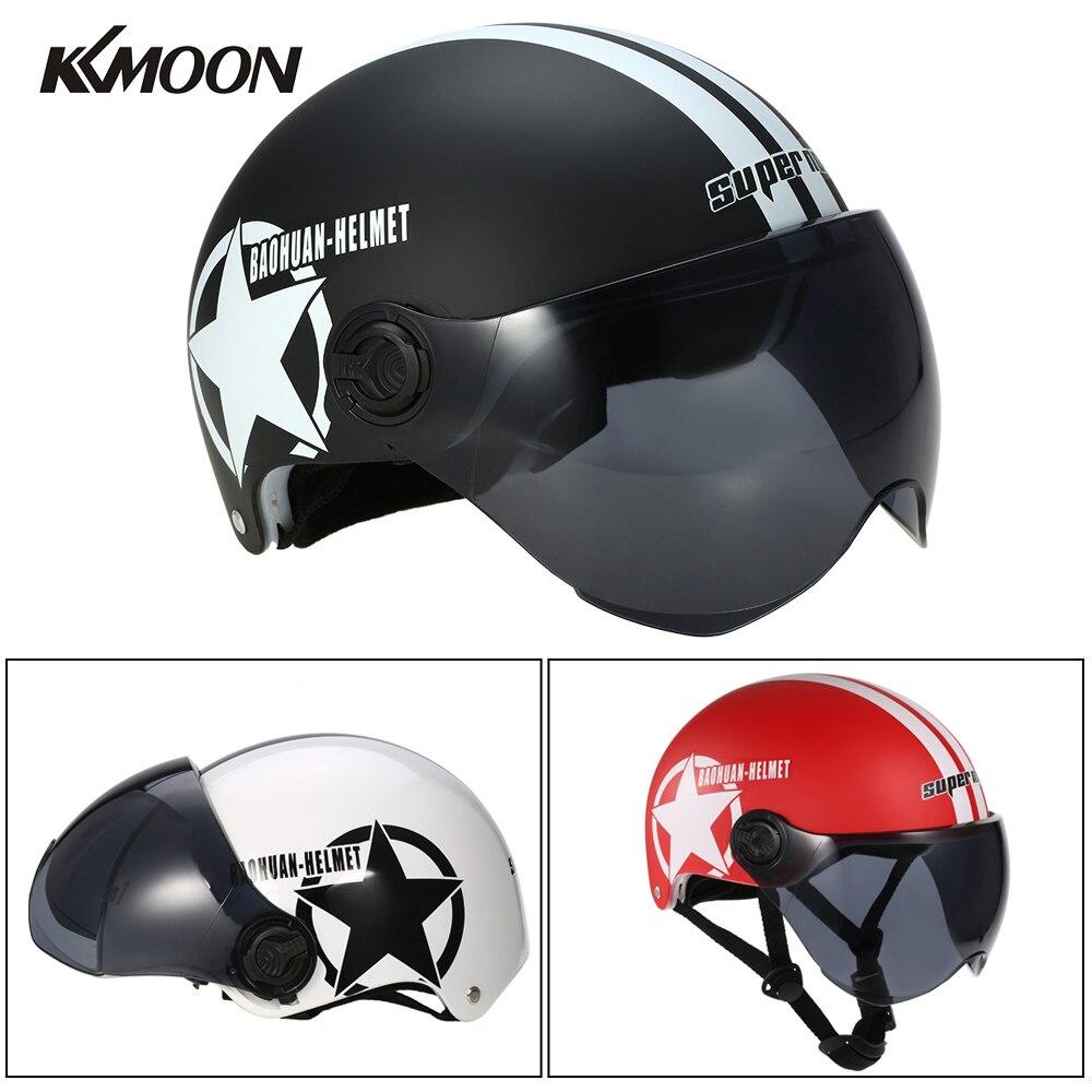 d904102a670a7 Cheap Casco de la motocicleta de la mitad de la cara abierta tamaño  ajustable equipo de
