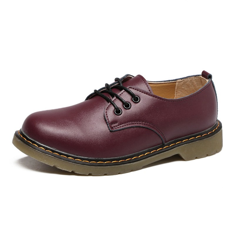 En À 40 Dames Cootelili Mocassins Chaussures Plat Oxford Casual rouge Cuir Lacets Appartements Pour marron Femmes Pu 35 Femme Noir zqtYYarwWI