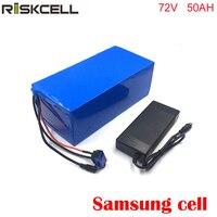 72 вольт 3000 Вт литиевая батарея для электровелосипеда 72 в 50Ah 18650 Аккумулятор для электрического велосипеда + 4A зарядное устройство для samsung cell