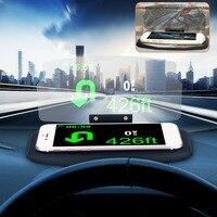 Universal suporte do carro do telefone móvel hud windscreen projetor hud head up display 6.5 Polegada para o iphone para samsung gps|phone hud|car hud phone|hud display gps -