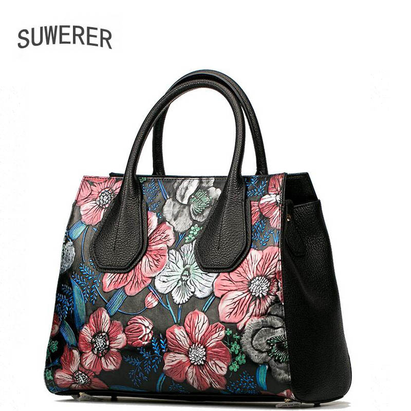 SUWERER 2017 new  Genuine Leather women bags for women luxury handbags women bags designer bags handbags women famous brands suwerer new genuine leather women bags special craftsmanship fashion luxury handbags women bags designer women leather handbags